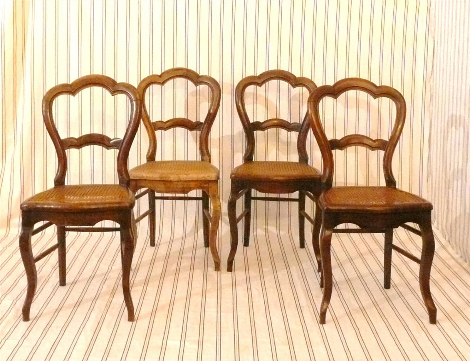 Sedie Francesi In Paglia Di Vienna : Corydon italia quattro sedie in noce e paglia di vienna arredi